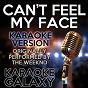 Album Can't feel my face (karaoke version) (originally performed by the weeknd) de Karaoke Galaxy