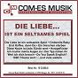 Compilation Die liebe... ist ein seltsames spiel avec Stefan Peters / Greenfield, Keller, Siegel / Connie Francis / Rogmann, Melzer / Carsten Luna...
